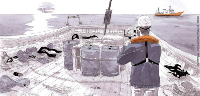 """A Taobuk, l'Ordine degli avvocati parla di """"Salvezza"""", la graphic novel realizzata a bordo della nave Aquarius"""