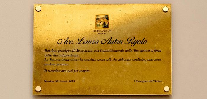 Intitolata all'avv. Laura Autru Ryolo, la sala conferenze del Dipartimento cultura e servizi dell'Ordine degli avvocati di Messina.